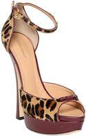 DSquared2 150mm Leopard Print Ponyskin Sandals - Lyst