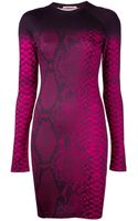 Christopher Kane Snakeskin Bodycon Dress - Lyst