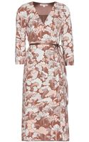 Marc Jacobs Printed Wrap Dress - Lyst