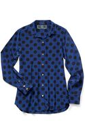 C. Wonder Polka Dot Silk Shirt - Lyst