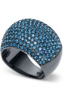 Michael Kors Gunmetal-tone and Montana Stone Dome Ring - Lyst