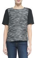 Vince Textured Short Sleeve Top - Lyst