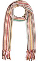 Paul Smith Red Striped Scarf - Lyst