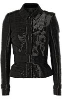 Burberry Prorsum Pleated Taffeta Jacket - Lyst