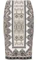 Etro Printed Pencil Skirt - Lyst