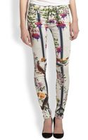 Mother The Looker Scarfprint Skinny Jeans - Lyst