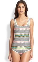 Missoni Mare Greek Key One-piece Swimsuit - Lyst