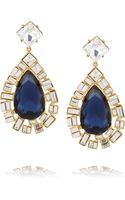 Kenneth Jay Lane Goldplated Crystal Clip Earrings - Lyst