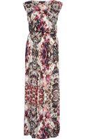 River Island Purple Mirror Print Maxi Dress - Lyst