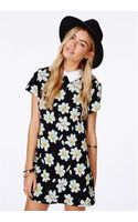Missguided Jacuba Collared Dress in Floral Print - Lyst