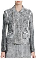 3.1 Phillip Lim Cropped Leather Moto Jacket - Lyst