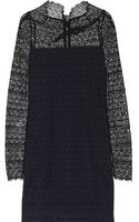 Roland Mouret Samiel Cottonlace and Crepe Mini Dress - Lyst