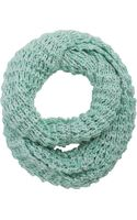 Barneys New York Metallic Infinity Scarf - Lyst