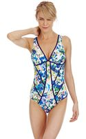 Kenneth Cole Reaction Moonlight Roses One Piece Swimsuit - Lyst