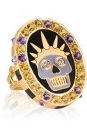 Holly Dyment Thursday Enamel Skull Ring - Lyst