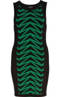 River Island Green Chevron Knitted Tube Dress - Lyst