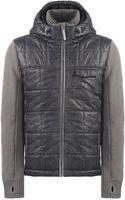 Bench Mixed Media Hooded Jacket - Lyst