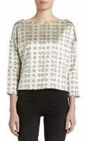 Maiyet Block Print Wide Neck Top - Lyst