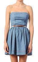 Hilfiger Denim Bustier Dress 464 Fayna Strapless Dress - Lyst