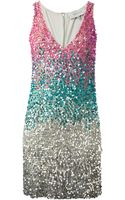 Amen Sleeveless Sequined Dress - Lyst