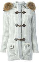 Bark Knit Duffle Coat - Lyst