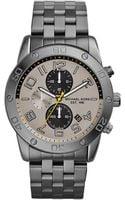 Michael Kors Mens Gunmetal Stainless Steel Mercer Chronograph Watch - Lyst