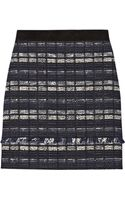 Proenza Schouler Suedetrimmed Tweed Mini Skirt - Lyst