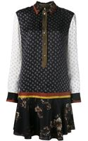 Jason Wu Combo Print Flared Dress - Lyst