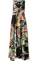 Etro Silk Midi Dress - Lyst