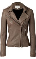 Iro Lamb Leather Biker Jacket - Lyst