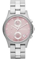 Marc By Marc Jacobs Womens Chronograph Henry Stainless Steel Bracelet Watch 37mm - Lyst