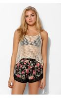 Pins And Needles Crochet Mesh Tank Top - Lyst