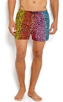DSquared2 Leopard Print Swim Trunks - Lyst