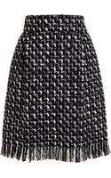 Lanvin Tweed Pencil Skirt - Lyst
