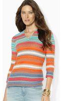 Ralph Lauren Lauren Jindra Three Quarter Sleeve Sweater - Lyst