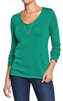 Old Navy Lightweight V-neck Sweaters - Lyst