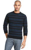 Tommy Hilfiger Indigo Fair Isle Sweater - Lyst