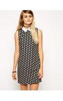 Asos Reclaimed Vintage Collar Shift Dress in Shell Print - Lyst
