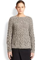 The Row Charlotte Cableknit Sweater - Lyst