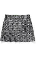 C. Wonder Stretch Cotton Pique Printed Skirt - Lyst