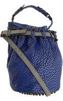 Alexander Wang Blue Diego Bag with Black Studs - Lyst