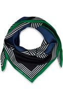 Jonathan Saunders Blue Woven Striped Silk Scarf - Lyst
