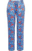 River Island Blue Leaf Print Slouch Pants - Lyst