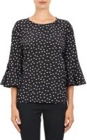 Dolce & Gabbana Polka Dot Bell-cuff Blouse - Lyst