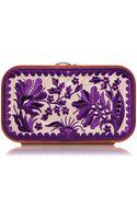 Katrin Langer Floral Brocade Embroidered in Cream  Purple - Lyst