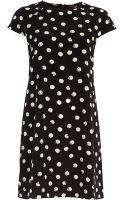River Island Black Polka Dot Print Swing Dress - Lyst