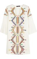 Kate Moss For Topshop Embroidered Shantung Mini Dress - Lyst