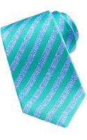 Kiton Largestripe Silk Tie Bluegreen - Lyst