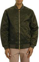 Acne Studios Green Nylon Gold Zip Bomber Jacket - Lyst