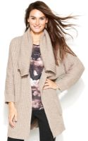 Vince Camuto Oversized Collar Sweater Coat - Lyst